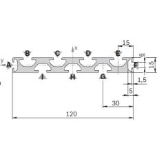 11204 | Профиль 15х120 станочный из алюминия Bosch