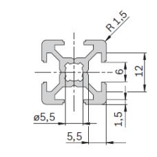 11200 | Профиль 20х20 конструкционный из алюминия Bosch