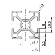 11202 | Профиль 30х30 конструкционный из алюминия, Bosch