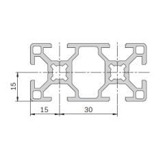 11203 | Профиль 30х60 конструкционный из алюминия Bosch