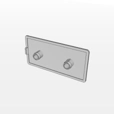 10552 | Заглушка торцева до профілю 45х90, два круглих штифта 10,1мм або 10,4мм, паз 10