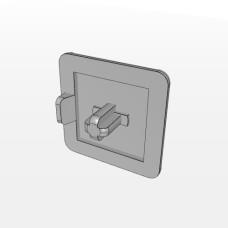 10553 | Заглушка торцева 20х20, штифт 4,5мм, товщ. 4,5 мм, паз 5