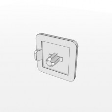10555 | Заглушка торцева 20х20, штифт 4,5мм, товщ. 2,5 мм, паз 5