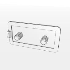 10556 | Заглушка торцева до профілю 20х40, два хрестових штифта 4,4мм, паз 5