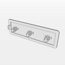 10557 | Заглушка торцева до профілю 20х60, три штифта 4,12мм, паз 5