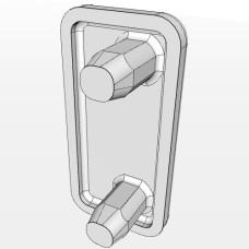 10567 | Заглушка торцева до профілю 10х20, два штифта 3,4мм, закруглення по куту 2мм