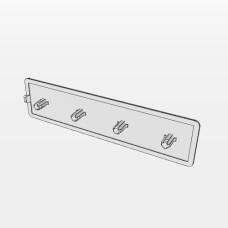 10578 | Заглушка торцева до профілю 30х120, чотири  штифта 5мм, закруглення по куту 3мм, паз 6