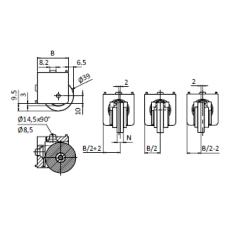 10610 | Набор ролик 10603 і адаптер паз 10 мм до профілів 45 мм