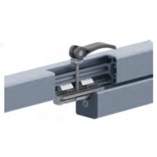 10707 | Повзун платформа, паз 8 мм, цинк, плоский верх