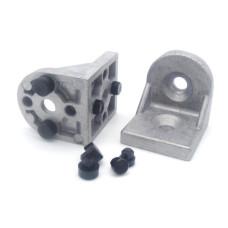 10854 | Кутовий поворотний з'єднувач аналог R 40х43 Bosch - кронштейн до профілів ситем Bosch чи Item 40 /45 паз 8 і 10 мм