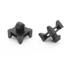 10804 | Кабеледержатель крест для стенки до 2,1мм, паз 8 B