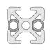 11103 | Автоматический соединитель 90° профилей 30 с пазом 6мм