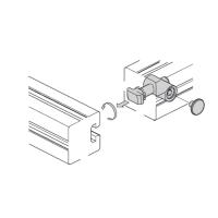 10462 | Швидкий затискний з'єднувач, 0 градусів, паз 10, на алюминієвий профіль Bosch