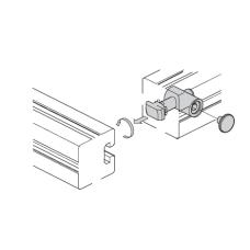 10460 | Швидкий затискний з'єднувач верстних конструкційних профілів, 0 градусів, паз 8, на алюмінієвий профіль Bosch