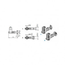 10447 | Швидкозатискний центральний з'єднувач, якор 19 мм, паз 8