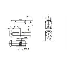 10448 | Центральний швидкозатискний з'єднувач, паз 8 Bosch