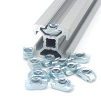 10120 | Т-подібна гайка паз 6, виступ 1,0 мм, М4-М5, сталь оцинкована
