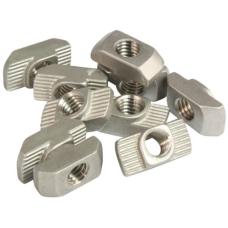 10101 | Т-подібна гайка паз 6, виступ 1,0 мм, М4, сталь нержавіюча, аналог Bosch 3 842 536 599