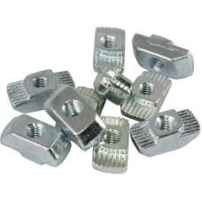 10100 | Т-подібна гайка паз 6, виступ 1,0 мм, М3-М4, сталь оцинкована, аналог Bosch 3 842 523 135