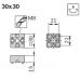 10466 | Т-образный соединитель, 3030 30х30 30X30, паз 8