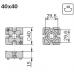 10467 | Т-образный соединитель, 4040 40х40 40X40, паз 10