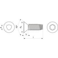 15200 | Гвинт різьбовидавлювальний TORX, конусна потайна головка