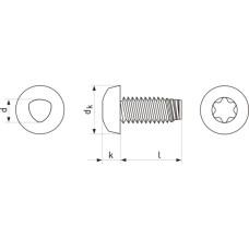 15204 | Винт резьбовыдавливающий с полукруглой головкой TX