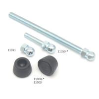 11000 | Опорна плита кругла  до регульованої опори під шарнир, з гумовим шаром