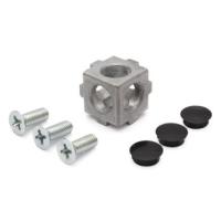 10457 | 3D кубічний з'єднувач до профілів 30
