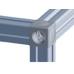 10458 | 3D кубический соединитель на профиль 40 паз 8 и 10