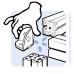10434 | Трёхсторонний угловой соединитель, паз 10, профили 45