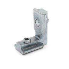 10402 | Внутрішній кутовий з'єднувач на станочний профіль, паз 10, у зовнішню і внутрішню сторони кута