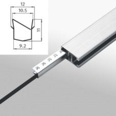 10650 | Ущільнювач  затискач 2-9 мм до рамкових профілів ситем. Item  18х32 32x18