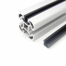 10646 | Окантовочний профіль - профільна вставка - ущільнювач 6 мм, паз 10 профілів Bosch, чорний, 2м