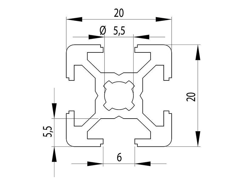 Станочный профиль паз 6 Bosch