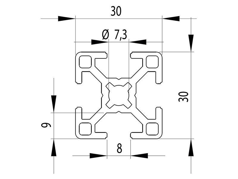 Станочный профиль паз 8 Bosch