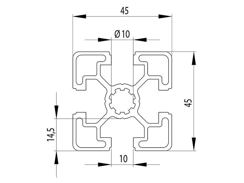 Станочный профиль паз 10 Bosch