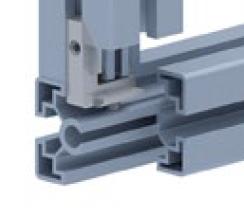 Внутренний угловой соединитель алюминиевого профиля с пазом