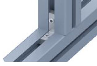 Обратный угловой соединитель алюминиевого профиля с пазом